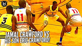 Jamal Crawford Vs His Son Eric Crawford When You Gotta Guard Your Dad But He's J Crossover