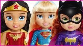 DC Girls Toddler Dolls Review Wonder Woman, Batgirl and Supergirl
