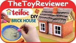 Teifoc DIY Brick House Frame Work Construction Set 4300 Craft Unboxing Toy Review