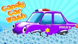 Car Wash Games - Poilce Car - Police Car Wash - Candy Car Wash - Car Wash App