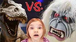 T-REX vs YETI! Who Wins?