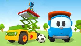 Learn Transport with Leo the Truck - Kids Vehicles' Construction Cartoon