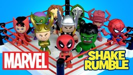 Marvel Superheroes Shake Rumble With Deadpool Thor Spiderman Toys Marvel Mystery Minis