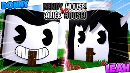 Minecraft - BENDY AND THE INK MACHINE HOUSE VS ALICE ANGEL HOUSE!!