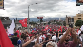 Thousands of Opposition Supporters March in Tegucigalpa