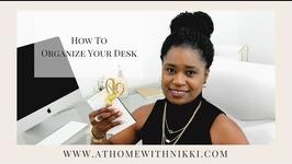 DESK ORGANIZATION IDEAS  HOW I ORGANIZE MY DESK