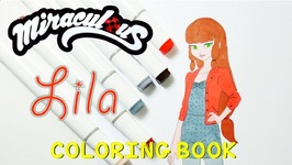 Miraculous Ladybug Coloring Book Pages Lila Aka Fake Volpina Video ...