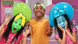 My Face is Not Green Sean! (Twin Sisters Pretend Play Magical Balloon & Pikmi Pops Toys)