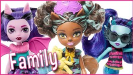 Monster High Dolls Family Little Sisters for Draculaura, Clawdeen and Lagoona Doll Review