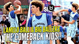 LaMelo Ball Does His Best Lonzo And LiAngelo Impression W/ That Melo Sauce On Top