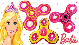 Making With Play Doh Sparkle Barbie Fidget Spinner Glitter Disney Princess Dress Clay For Kids