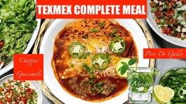 TexMex Dinner Meal Enchiladas Pico De Gallo Guacamole Mojito