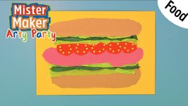 Paper Sandwiches - Arty Party - Mister Maker