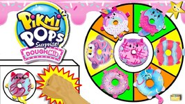 Pikmi Pop Doughmis SPINNING WHEEL GAME w/ Jelly Filled Donut SURPRISE TOYS Donut Wall