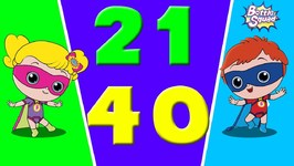 Number Adventures 21 To 40 - Bottle Squad Superheroes Team - Educational Video - Learn Numbers
