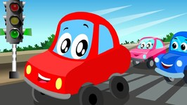 Little Red Car - Lets Drive On - Carstoon - Car Cartoon For Kids