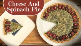 Cheese And Spinach Pie / Easy Pie Recipe / Divine Taste With Anushruti