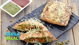 Cheese Aloo Moong Toast Sandwich