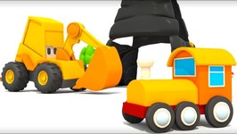 Excavator Max and Toy Train - Car cartoon and Cars Games- Cars for Kids and Trains for Children.