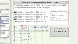 Determine Equivalent Variable Expressions Using the Distributive Property