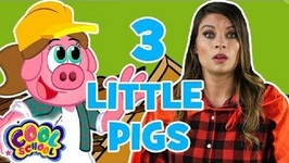 The Three Little Pigs - Chapter 3 - BRAND NEW Story Time with Ms. Booksy - Cartoons for Kids