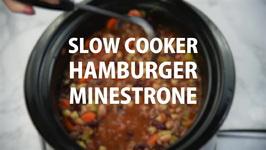 Slow Cooker Hamburger Minestrone