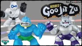 Heroes of Goo Jit Zu Thrash, Wolfpain & Pantaro Figures