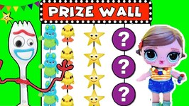 Toy Story 4 BONNIE'S CARNIVAL PRIZE WALL GAME w/ Surprise Toys Backpack