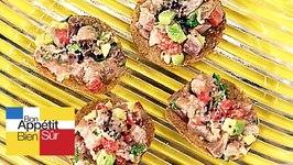 Crêpes croustillées au tartare de maquereaux