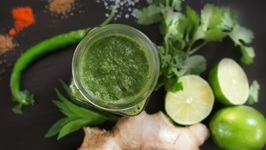 Green CHUTNEY - Delicious CORIANDER accompaniment