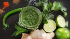 Green CHUTNEY - Delicious CORIANDER accompaniment