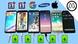 Oneplus 5T vs Pixel 2 XL vs S8 vs iPhone 8 Battery Charging Speed Test