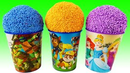 Learn Colors Foam Surprise Eggs Disney Princess Superhero