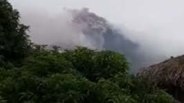 Mayon Volcano Churns Smoke Clouds Into Skies of Eastern Albay Province