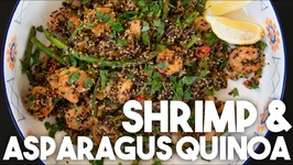 SHRIMP And ASPARAGUS Quinoa - Easy Weeknight GLUTEN FREE Meal