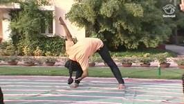 Yoga Exercise For Beginners In Tamil - Parivritta Trikonasana