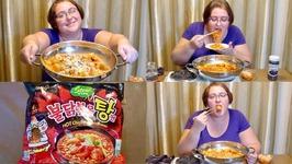 Spicy Sungamyon Korean Stew Type Ramen Noodles Recipe And Mukbang - Eating Show