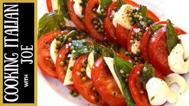 Caprese Salad With Fried Basil