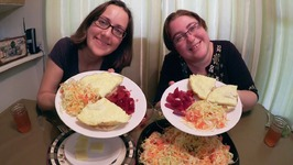 Omelette, Cabbage Salad And Beet Salad / Gay Family Mukbang - Eating Show