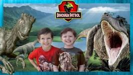 Giant T-Rex vs T-Rex Dinosaurs - Pretend Play & Dinosaur Dinosaur Patrol - Chase and Cole Adventures