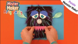 Purple Monster Make - Arty Party - Mister Maker