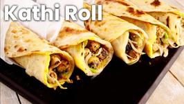 Kathi Roll - Veg Original Kati Kebab Kolkata Egg Roll Street Style