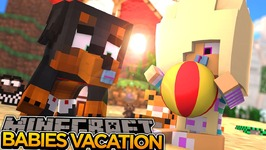 BABY LEAH & MAX ON VACATION w/ LITTLE CARLY!! - Minecraft - Little Donny Adventures.