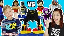 Teen Titans Go Vs Justice League On The Imaginext Batcave Battle Playset