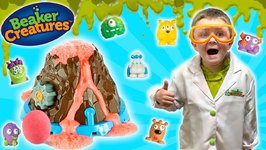 Little Scientist - Kids DIY Volcano Experiment with Learning Resource Beaker Creatures and SLIME!!