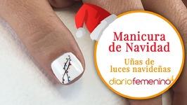 Cómo hacer unas divertidas uñas de luces navideñas - Diseño de uñas para Navidad