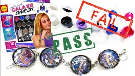 DIY Craft Kit Tested - Alex Paint and Sparkle Galaxy Jewelry Bracelet Ring  Necklace