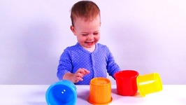 Baby Jessie Color Stacking Cups - Best Preschool Educational Toys for Toddlers - Learn Colours