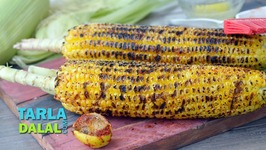 Roasted Corn On The Cob - Mumbai Roadside Monsoon Bhutta