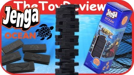 Jenga Ocean Board Game Recycled Fishing Nets Plastic Blocks Unboxing Toy Review